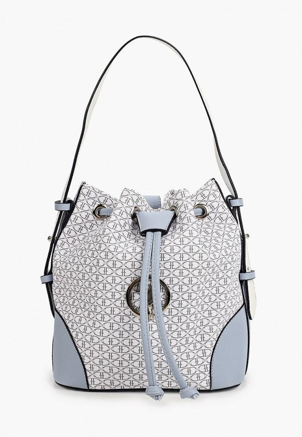 женская сумка-ведро u.s. polo assn, белая
