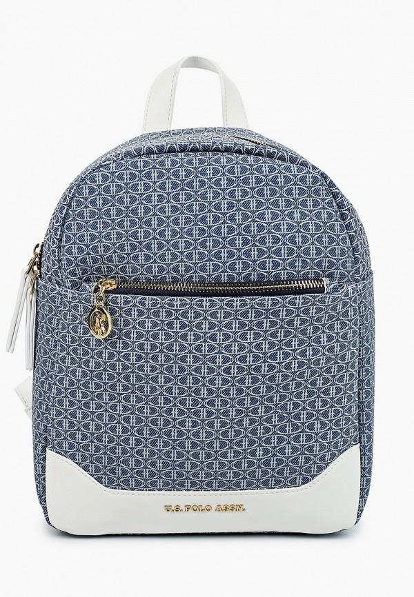женский рюкзак u.s. polo assn, голубой