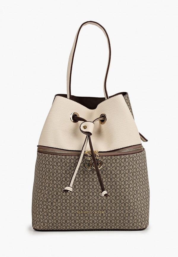 женский рюкзак u.s. polo assn, бежевый