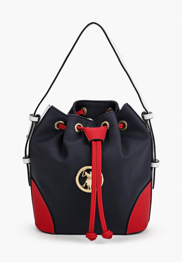 женская сумка с ручками u.s. polo assn, черная