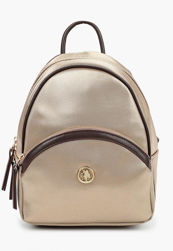женский рюкзак u.s. polo assn, золотой