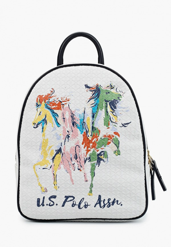 женский рюкзак u.s. polo assn, белый