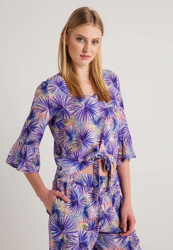 женская блузка bgn, фиолетовая