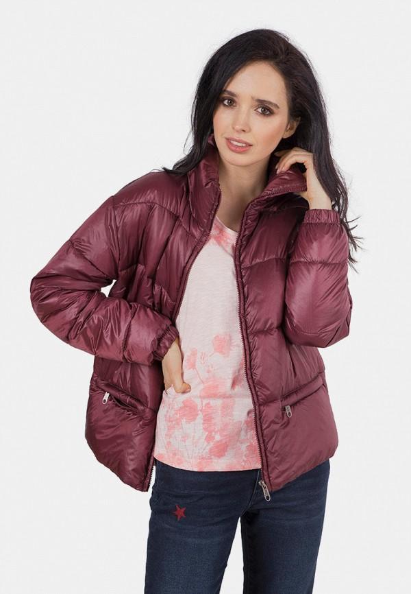 женская куртка mr520, бордовая