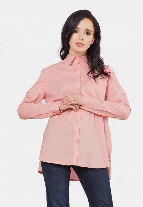 женская рубашка с длинным рукавом mr520, розовая