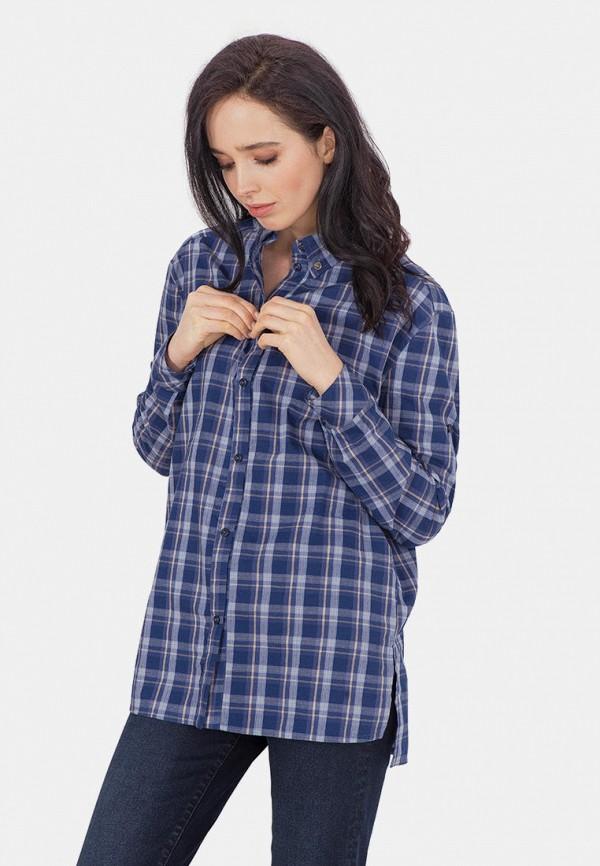 женская рубашка с длинным рукавом mr520, синяя