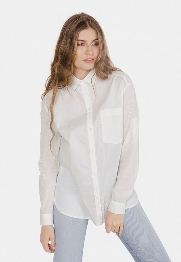 женская рубашка с длинным рукавом mr520, белая