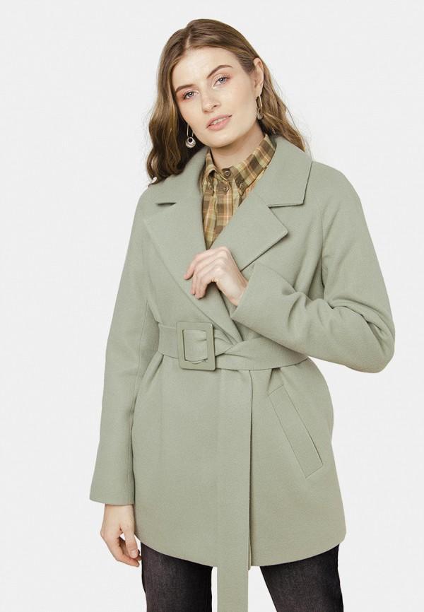 женское пальто mr520, зеленое