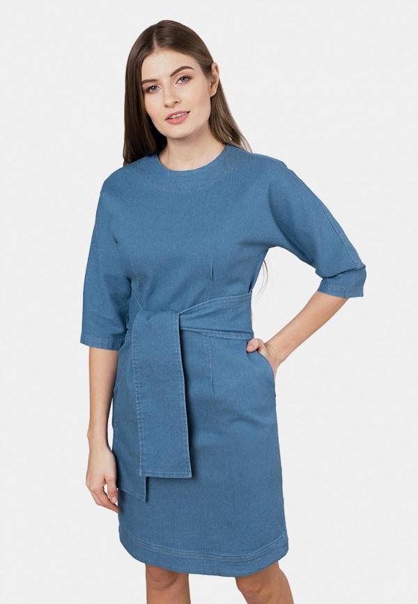 женское джинсовые платье mr520, синее