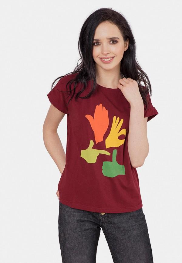 женская футболка mr520, бордовая