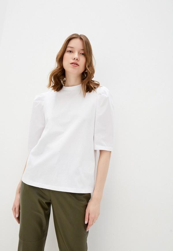 женская блузка с коротким рукавом love republic, белая
