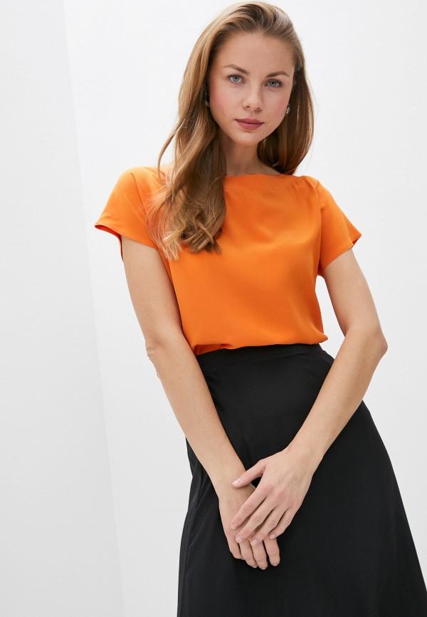 женская блузка с коротким рукавом falconeri, оранжевая