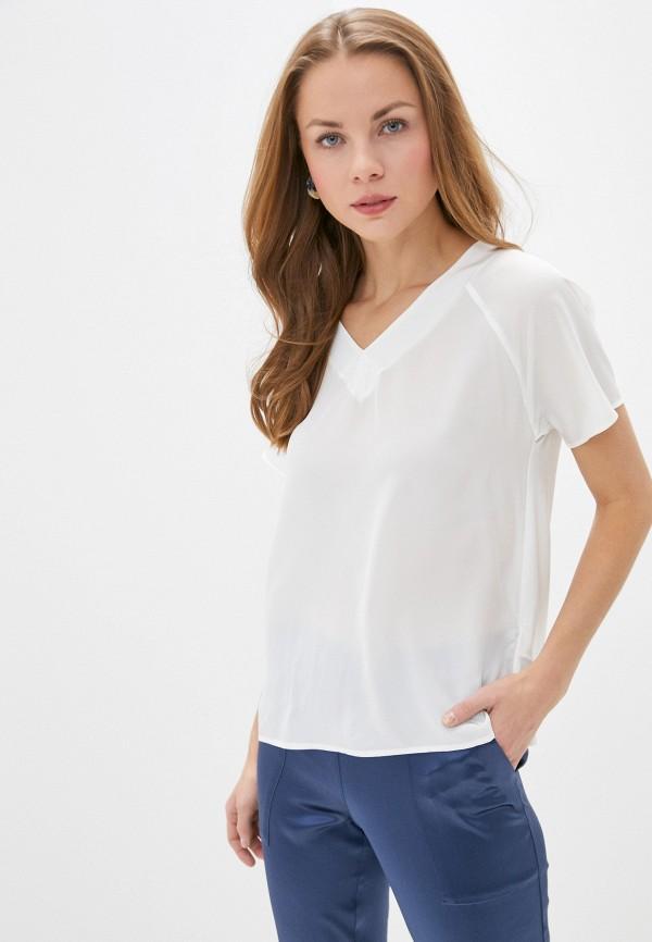женская блузка с коротким рукавом falconeri, белая
