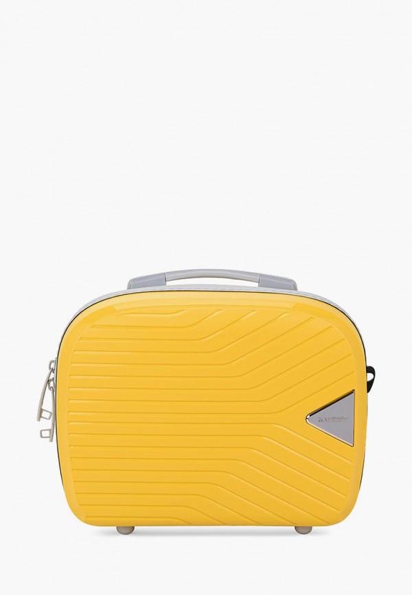 женский чемодан baudet, желтый
