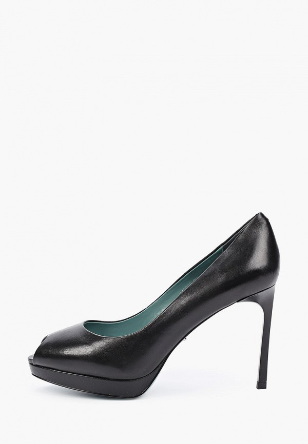 женские туфли с открытым носом vitacci, черные