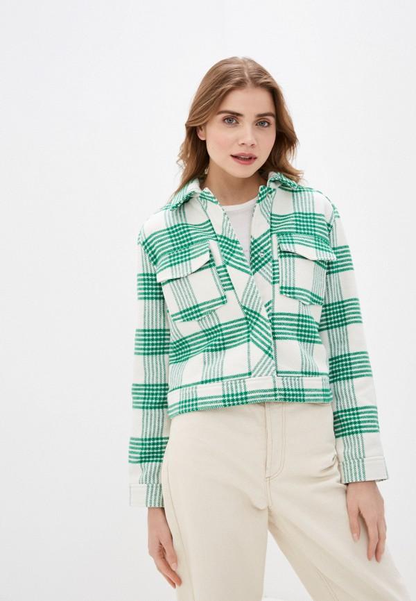 женское пальто sela, зеленое