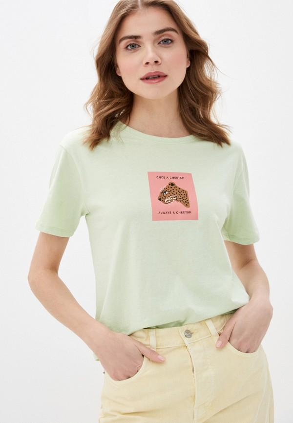 женская футболка sela, зеленая