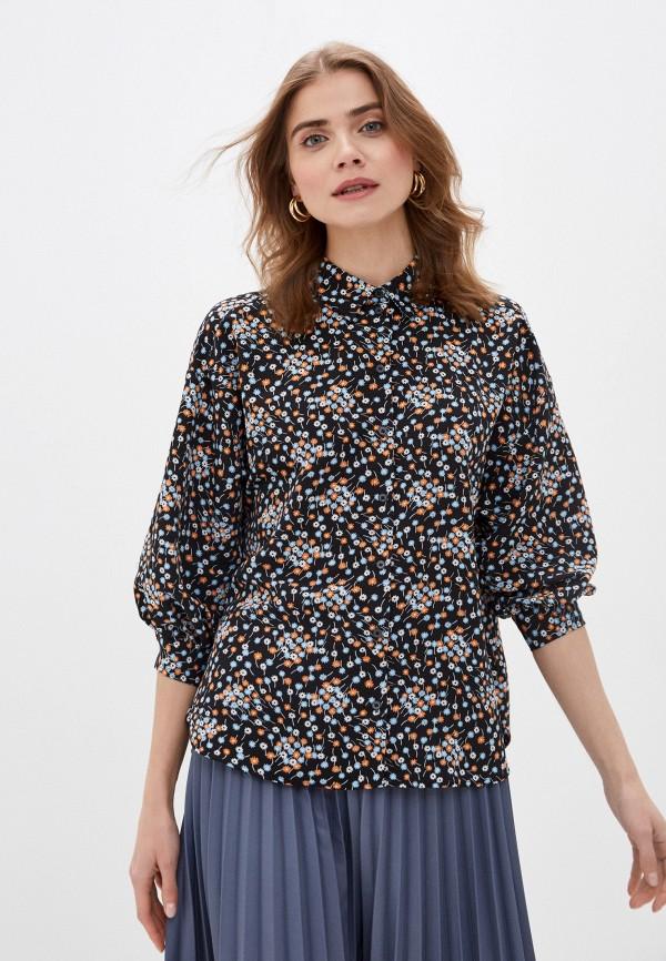 женская блузка с длинным рукавом sela, черная