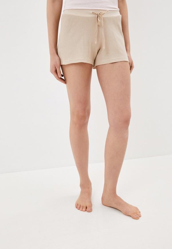 женские шорты sela, бежевые