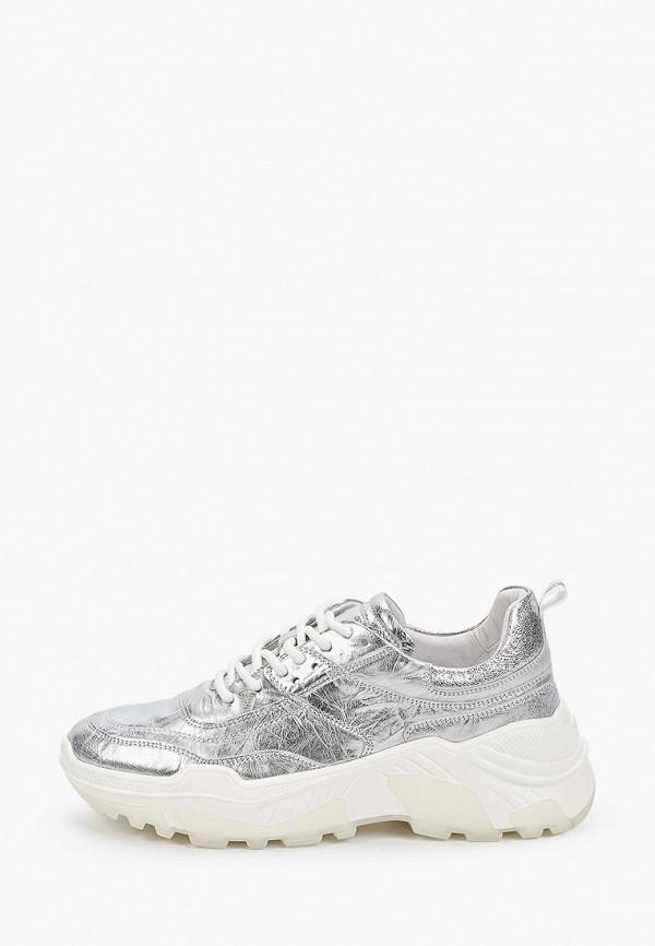 женские низкие кроссовки vitacci, серебряные