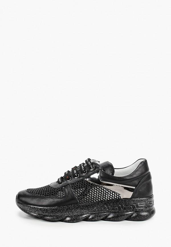 женские низкие кроссовки vitacci, черные
