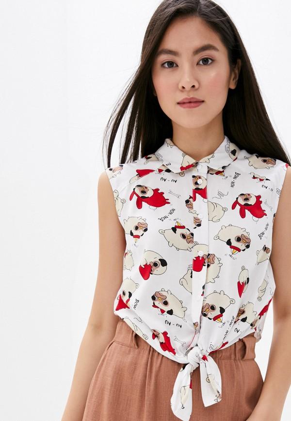 женская блузка без рукавов befree, белая