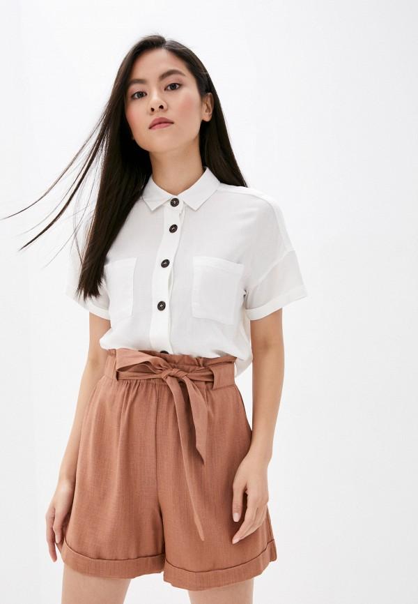 женская блузка с коротким рукавом befree, белая