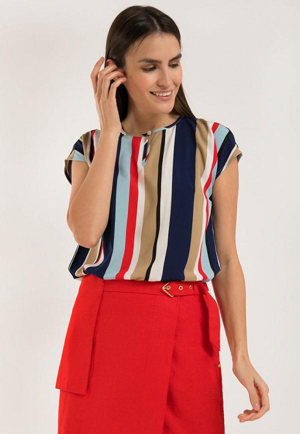 женская блузка с коротким рукавом finn flare, разноцветная