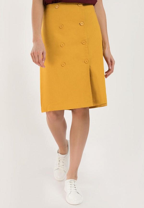 женская юбка-трапеции finn flare, желтая