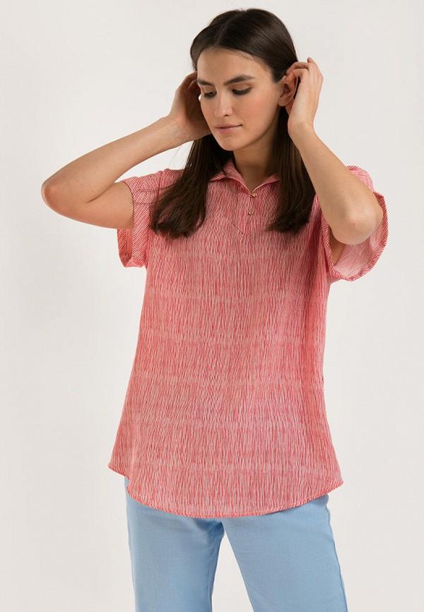 женская блузка с коротким рукавом finn flare, красная