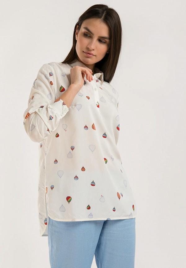 женская блузка с длинным рукавом finn flare, белая