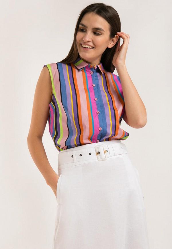 женская блузка без рукавов finn flare, разноцветная