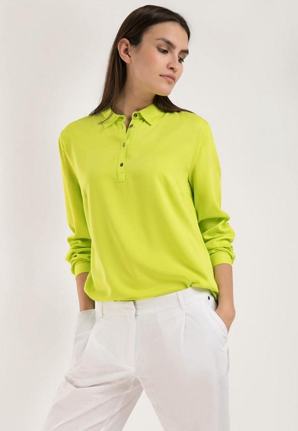 женская блузка с длинным рукавом finn flare, зеленая