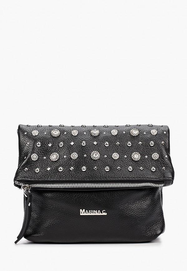женская сумка через плечо marina creazioni, черная