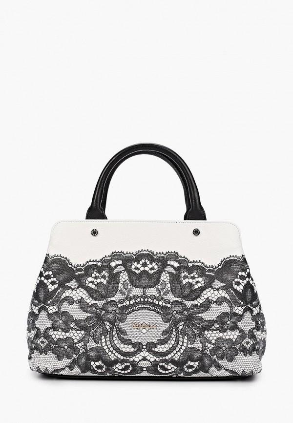 женская сумка с ручками marina creazioni, белая