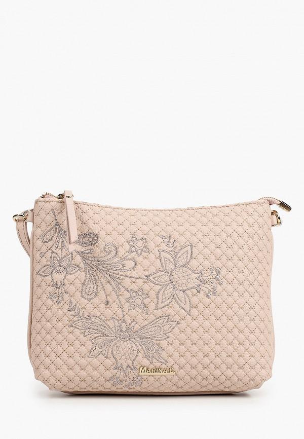 женская сумка через плечо marina creazioni, розовая
