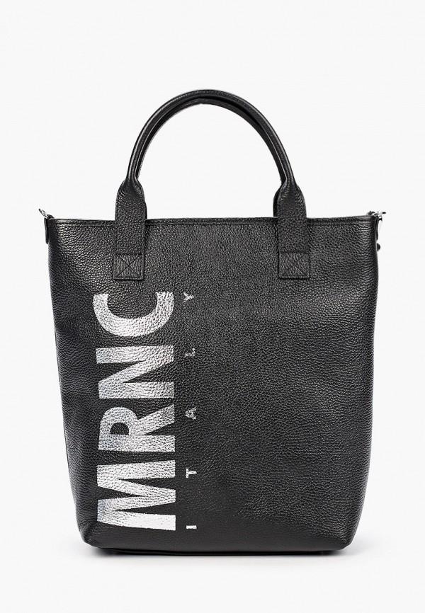 женская сумка с ручками marina creazioni, черная