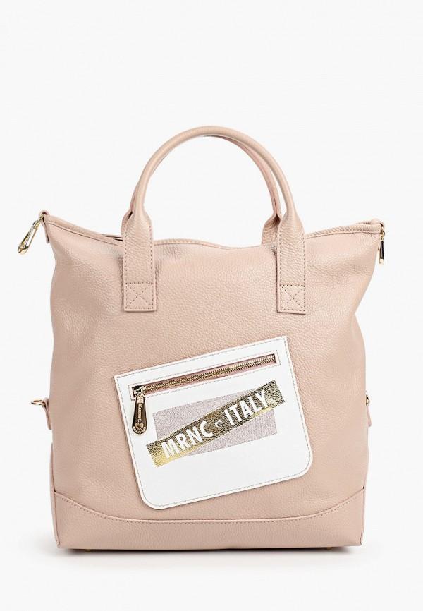 женская сумка с ручками marina creazioni, розовая