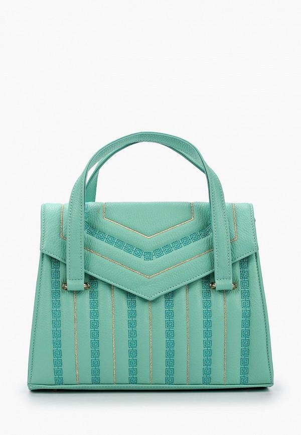 женская сумка через плечо marina creazioni, бирюзовая
