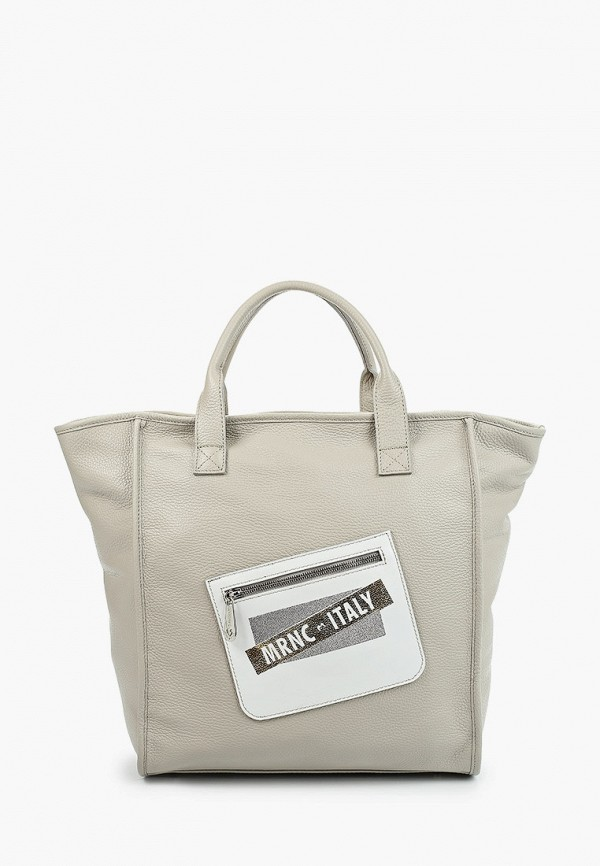 женская сумка с ручками marina creazioni, бежевая