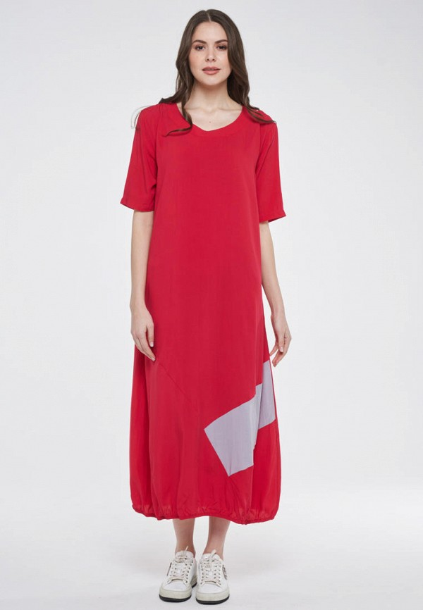 женское повседневные платье vay, красное