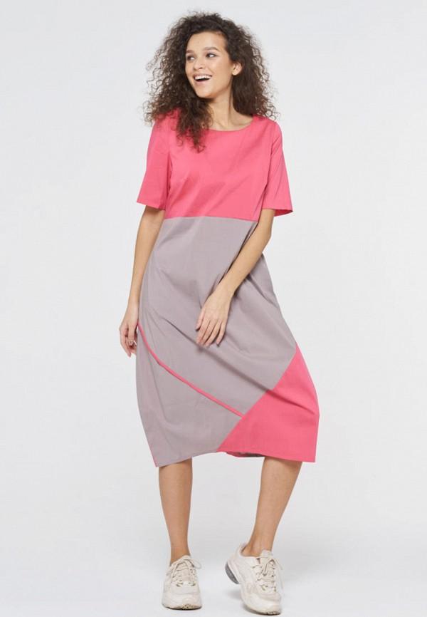 женское повседневные платье vay, розовое