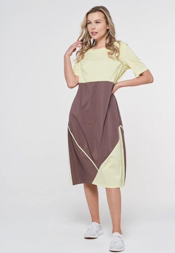 женское повседневные платье vay, коричневое