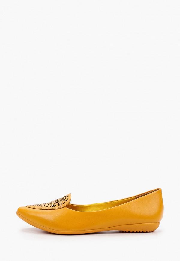 женские балетки bottero, желтые