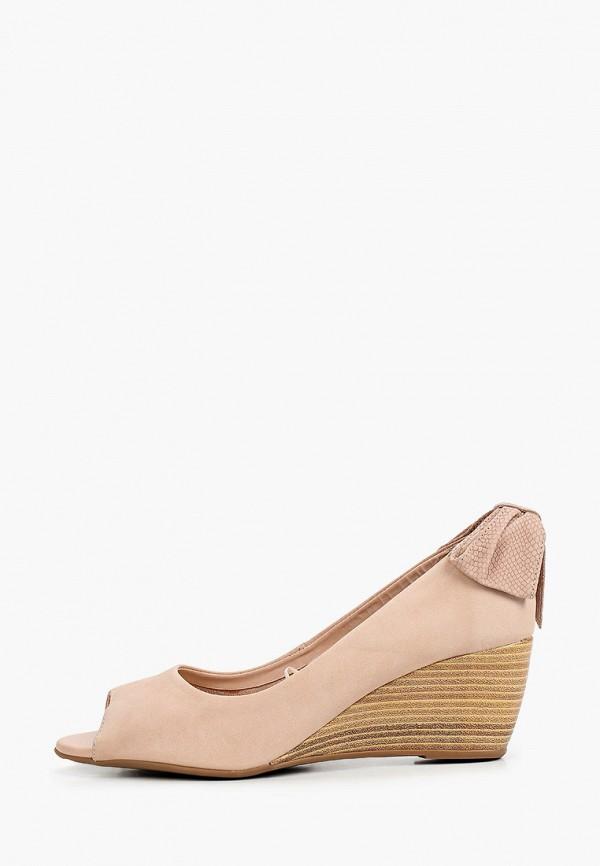 женские туфли с открытым носом bottero, бежевые