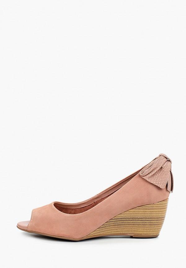 женские туфли с открытым носом bottero, розовые