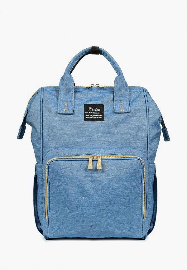 женский рюкзак leotex, голубой