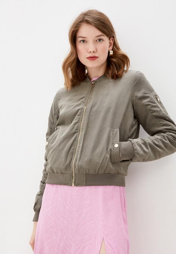 женская куртка бомбер befree, хаки