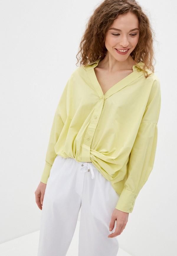 женская блузка с длинным рукавом befree, желтая