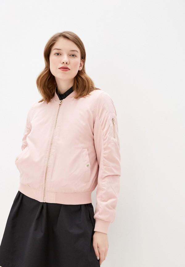 женская куртка бомбер befree, розовая